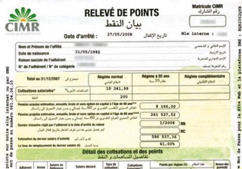 Cimr Caisse Interprofessionnelle Marocaine De Retraite Bien Lire