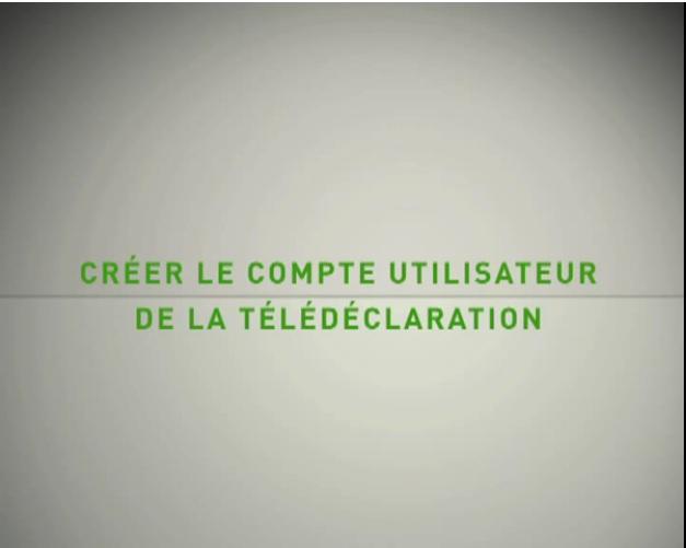Créer le compte utilisateur de télédéclaration CIMR